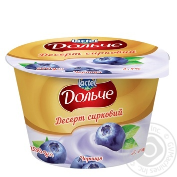 Dolce with blueberries curd dessert 3.4% 200g - buy, prices for MegaMarket - image 1