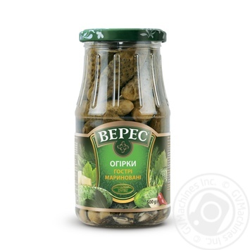Veres pickled hot cucumber 500g