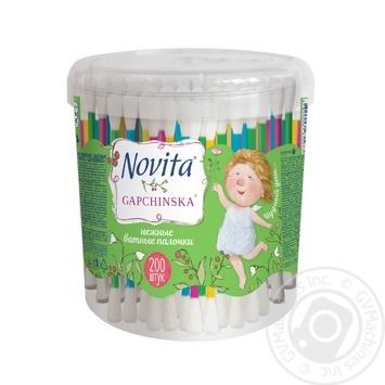 Палички ватні Novita delicate в банці 200шт - купити, ціни на Novus - фото 1
