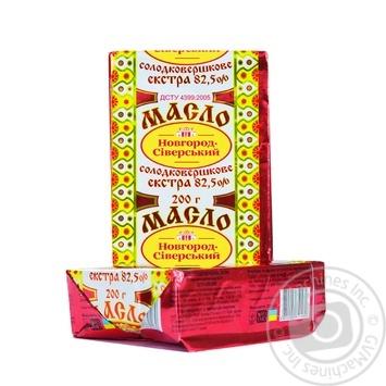 Масло Новгород-Сіверський Селянське солодковершкове 82.5% 200г - купити, ціни на Novus - фото 2
