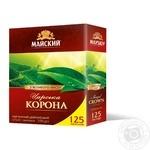 Чай чорний Майский Царська Корона в пакетиках 125*2г