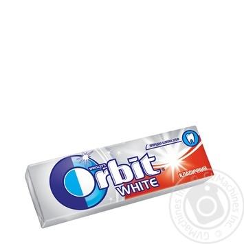 Резинка жевательная Orbit Белоснежный классический с мятным вкусом 13,6г