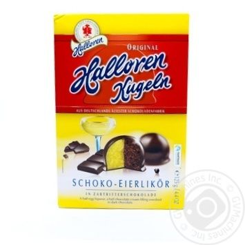 Цукерки шоколадні з яєчним лікером Halloren 125г