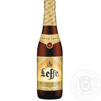 Пиво Leffe Blonde світле 6,6% 0,33л