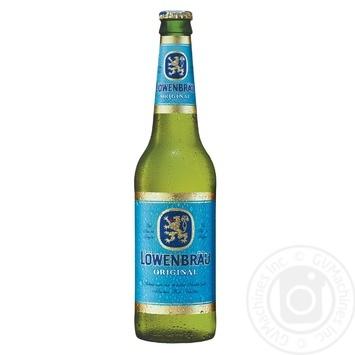 Пиво Lowenbrau Original светлое фильтрованное пастеризованное 5,2% 0,33л