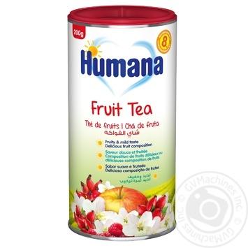 Чай Хумана Фруктовый детский растворимый с 8 месяцев 200г Германия