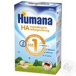 Смесь начальная Humana HA 1 Гипоаллергенная с LC PUFA 500г