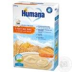 Каша молочная Humana 5 злаков с печеньем сухая 200г
