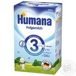 Humana for children from 10 months with apple dry milk mix