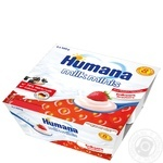 Humana with strawberry and natural prebiotics for 8+ month babies milk dessert 2.8% 4*100g