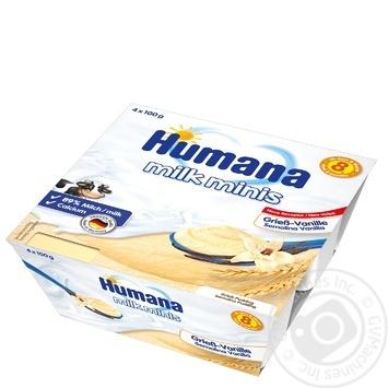 Пудинг молочный Humana с ванилью 4шт*100г