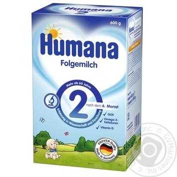 Смесь молочная Хумана 2 сухая детская с 6 до 12 месяцев 600г Германия