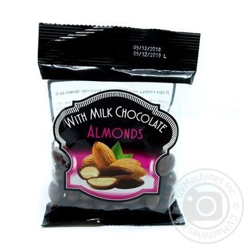 Мигдалю в молочному шоколаді Hazelnuts 90г