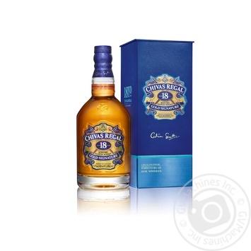 Виски Chivas Regal 18 лет 40% 0,7л  в подарочной упаковке