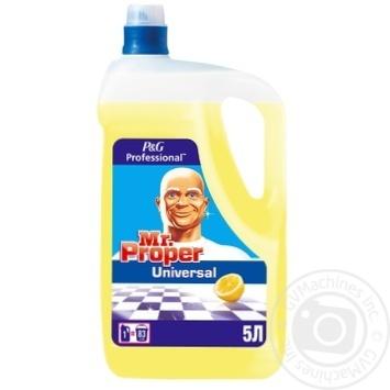 Универсальное средство Mr. Proper лимон 5л - купить, цены на Метро - фото 1