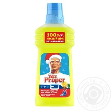 Средство Mr.Proper Лимон для мытья полов и стен 500мл - купить, цены на МегаМаркет - фото 1