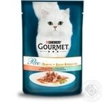 Gourmet Perle Duo with salmon and pollack cat food 85g - buy, prices for Tavria V - image 1