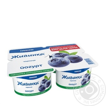 Yogurt Zhivinka blueberry 1.5% 115x4g - buy, prices for Novus - image 2