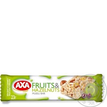 Батончик АХА зерновой с фруктами и орехами 23г
