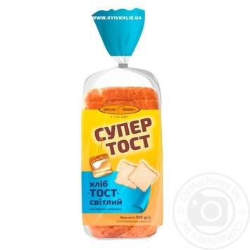Хліб Київхліб Супер тост світлий нарізаний  350г