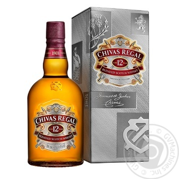Chivas Regal 12YO Blended Scotch Wisky 1l gift box - buy, prices for Novus - image 1