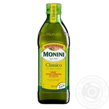 Масло оливковое Monini Extra Vergine первого холодного отжима 500мл - купить, цены на Novus - фото 1