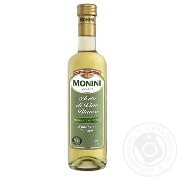 Уксус Monini винный белый 7.1% 500мл - купить, цены на Novus - фото 1