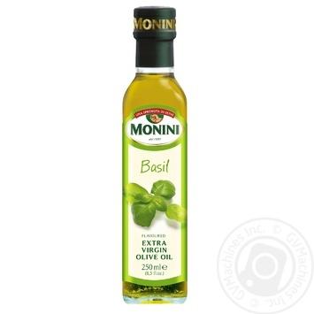 Масло оливковое Monini Extra Virgin с добавлением базилика 250мл
