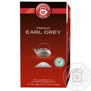 Чай черный Teekanne Earl Grey с бергамотом 20шт 2г - купить, цены на Novus - фото 1