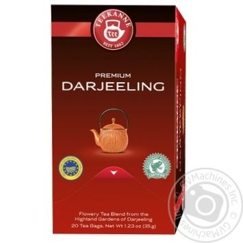 Teekanne Darjeeling black highland tea 20pcs 1.75g - buy, prices for Novus - image 1
