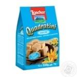 Вафлі-кубики Loacker Quadratini Vanilla з ванільною начинкою  250г - купити, ціни на МегаМаркет - фото 1