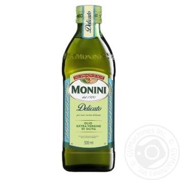 Масло оливковое Monini Extra Virgin Delicato 500мл - купить, цены на Novus - фото 1