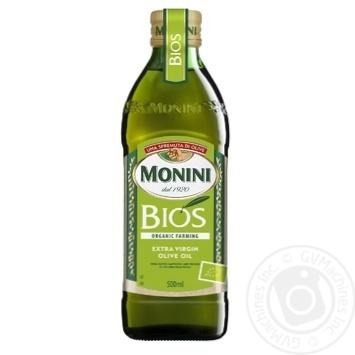 Масло Монини Биос оливковое экстра вирджин первого холодного отжима 500мл Италия