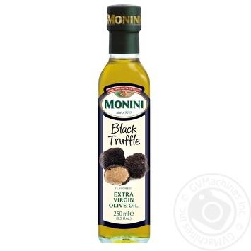 Масло оливковое Monini Extra Virgin с натуральным экстрактом черного трюфеля 250мл - купить, цены на Novus - фото 1