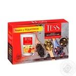 Набор чая TessSunrise+Goldberry+Pleasure+Earl Grey в пакетиках 100шт*1.6г + чашка