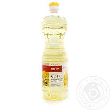 Масло подсолнечное Marka Promo рафинированное марки П 850мл - купить, цены на Novus - фото 1