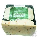 Сир твердий 50% Неаполітанський з томатом та базиліком Клуб Сиру ваг