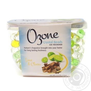 Кристаллический освежитель воздуха Ozone Crystal Beads на основе геля лайм и гвоздика 150г