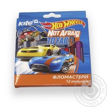 Фломастери Kite Hot Wheels 12 кольорів - купити, ціни на Метро - фото 1