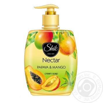 Крем-мило рідке Шик Nectar Папайя и манго з дозатором 300г - купити, ціни на Фуршет - фото 1