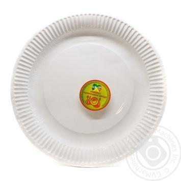 Набор тарелок Уни Пак разовых бумажных 230мл 6шт - купить, цены на Novus - фото 1
