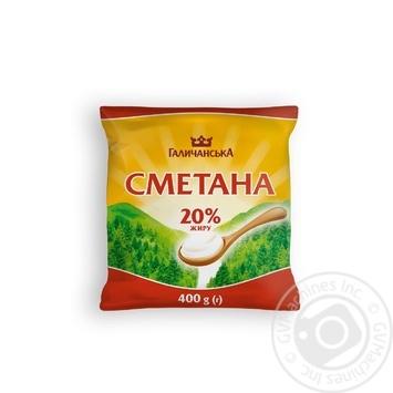 Скидка на Сметана ГаличанськА 20% 400г