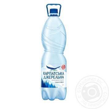 Вода Карпатская Джерельна сильногазированная 2л - купить, цены на Novus - фото 1