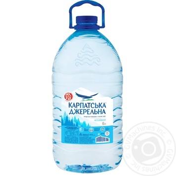 Вода Карпатская Джерельна негазированная 6л - купить, цены на Ашан - фото 1
