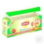 Чай Липтон Супер Тести Строберри крем зеленый 25х1.6г
