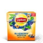 Черный чай Lipton Blueberry Muffin в пирамидках 20х1.8г