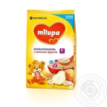 Каша молочная Milupa сухая быстрорастворимая мультизлаковая со смесью фруктов 210г - купить, цены на Novus - фото 1