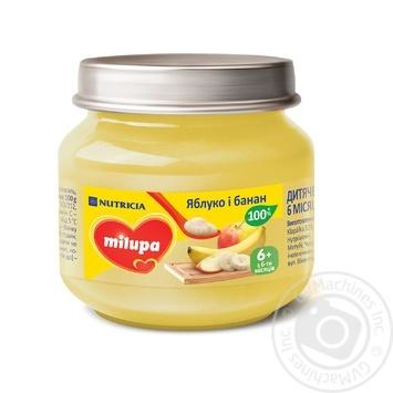 Пюре Milupa Яблоко и банан 100г