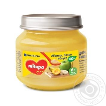Пюре Milupa Абрикос банан и яблоко 100г