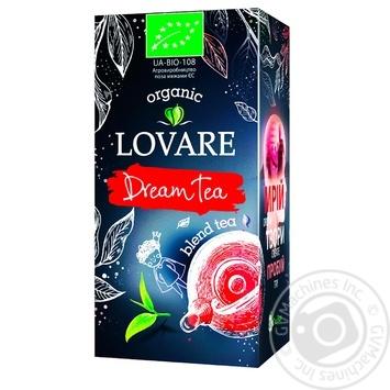 Чай черный и зеленый Lovare Dream Tea Organic 24х1,5г
